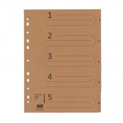 Faneblade / register 1-5 - Kraft