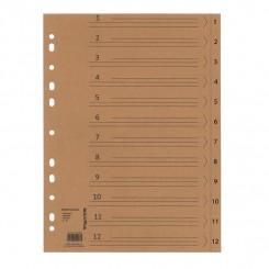 Faneblade / register 1-12 - Kraft